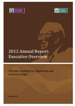 2012 Whitaker Institute Annual Report