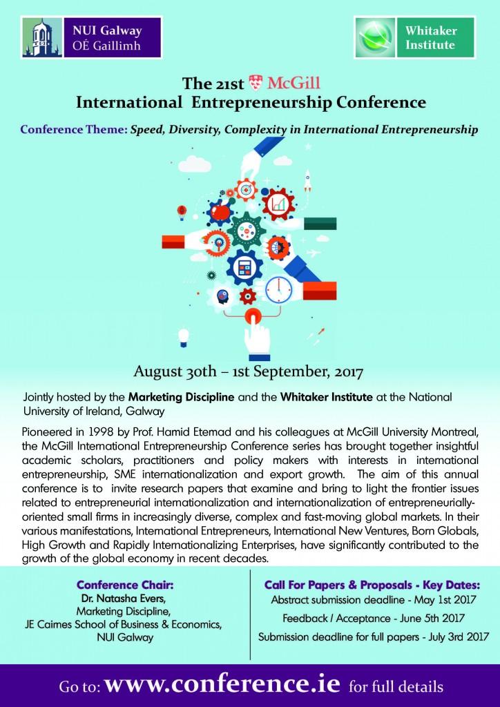 Flyer 2017 McGill International Entrepreneurship Conference