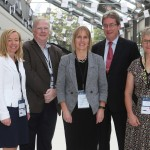 Dr Molly Byrne (NUI Galway), Dr John O'Dea (Crospon), Prof Catherine Woods (University of Limerick), Dr. Jim Browne (NUI Galway President), and Prof Sally Wyke, (University of Glasgow)
