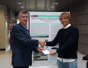 Mr Tom Gillespie receiving 1st prize from Prof Alan Ahearne